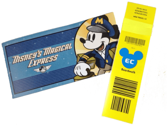 Disney's Magical Express luggage tag