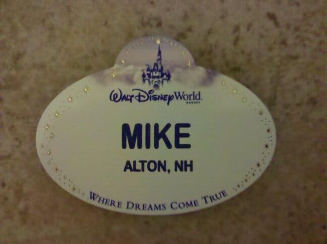 Disney nametag